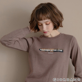 【GIORDANO】女裝CHECKS大學T恤 - 31 花紗棕