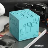 創意魔方藍牙音箱手機插卡迷你小音響低音炮收音機七彩燈鋼炮  凱斯盾數位3C
