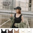 Queen Shop【01150230】U領彈性棉質無袖背心 五色售*現+預*