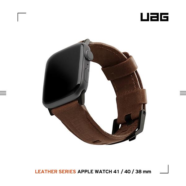 UAG Apple Watch 38/40/41mm 皮革錶帶-棕