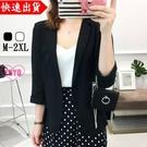 YoYo 韓國修身雪紡小西裝外套女(2色)薄款顯瘦職業西服U1012
