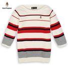 粗細條紋配色設計 適合早秋季節穿著 彈性針織材質舒適好穿搭