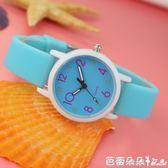 手錶時尚潮流兒童手錶女孩學生可愛男孩中小學生考試電子夜光石英錶 芭蕾朵朵