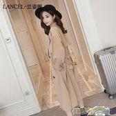 風衣女中長款韓版春秋季新款薄款秋裝修身過膝大衣外套潮 都市時尚