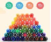 得力軟頭水彩筆12色24色36色48色學生可水洗硬頭彩筆畫筆套裝初學者手繪彩色水筆幼兒園