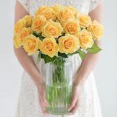 手感保濕仿真玫瑰花束裝飾花絹花干花花束客廳假花仿真花擺件H 【PINKQ】