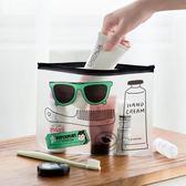 收納袋-韓國學生眼鏡筆袋可愛化妝拉邊袋透明卡通文具收納袋【完美生活館】