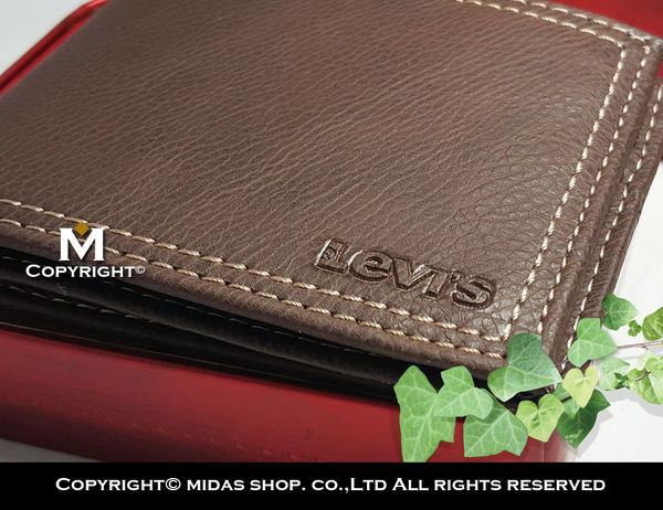 Levis 男皮夾 拉鍊零錢袋【美國進口現貨】Levi's 軟牛皮 雙折短夾 經典鐵盒裝/咖啡色