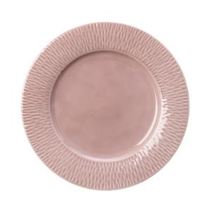 海薇波紋平盤21cm 粉