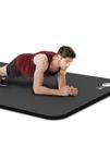 瑜伽墊 中歐男士健身墊初學者瑜伽墊子加厚加寬加長防滑運動瑜珈地墊家用【快速出貨八折搶購】