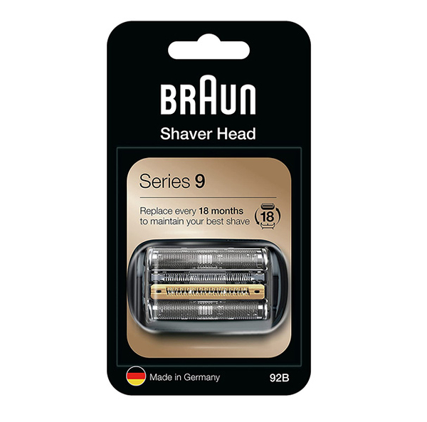 [2美國直購] 刀網 替換刀頭 Braun Shaver Replacement Part 92B Black - Compatible with Series 9 Shavers