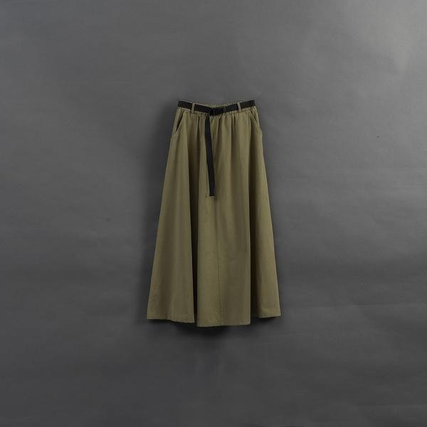 Queen Shop【03020805】女裝 親子系列 釦環腰帶長裙 兩色售*現+預*