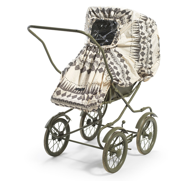 防雨罩 瑞典皇室御用 Elodie Details 嬰兒車手推車 摺疊防雨罩 (附收納袋) - 幾何圖騰 103762