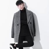 毛呢大衣-時尚潮流英倫風中長款男外套72e5【巴黎精品】
