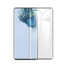 三星 S20/S20 Ultra 全膠全靜電鋼化膜 指紋解鎖版 滿版全覆蓋觸感靈敏 3D熱彎曲玻璃螢幕保護貼