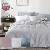 pippi poppo 60支頂級天絲銀纖維-素色系列 床包兩用被四件組 (6X6.2尺)