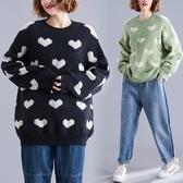 大尺碼 大碼女裝套頭毛衣女2019新款寬鬆韓版秋冬百搭加厚洋氣針織衫上衣  快速出貨