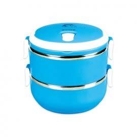 《鉦泰生活館》聖岡 LB-1400 韓式炫彩雙層保溫飯盒1.4L