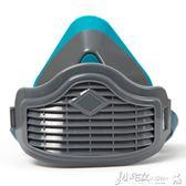 防塵口罩  硅膠防塵口罩 男透氣工業粉塵打磨可清洗勞保煤礦裝修防護面具 小宅女大購物