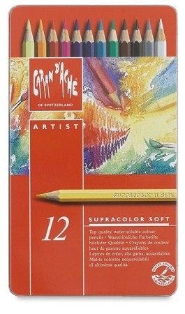 瑞士Caran d'Ache卡達Supracolor系列專家級12色水性彩色鉛筆* 3888.312