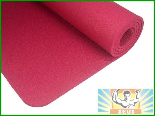 加厚瑜珈墊10mm(桃紅) (1公分瑜伽墊/NBR/運動墊/止滑/防滑瑜珈墊/附背袋)