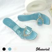 跟鞋 側釦寬帶透明跟鞋 MA女鞋 T0970