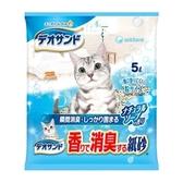 日本Unicharm嬌聯 消臭大師強力消臭結團紙砂-沐浴香5L
