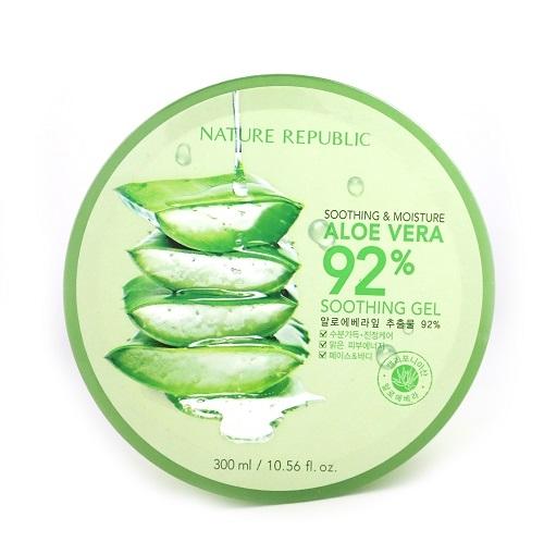 韓國 Nature Republic 92%蘆薈補水修護保濕凝膠 300ml【BG Shop】部落客強推!!