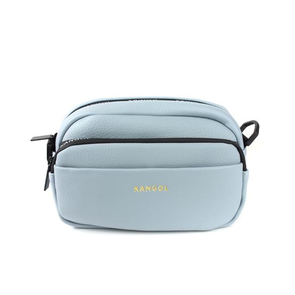 KANGOL 側背包 方包 淺藍色 夾層 6025300482 noA50