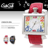 GaGa MILANO 義大利時尚精品腕表 46mm/男女兼用/防水/機械錶/RD/名人著用/6000.1  現+排單/免運!