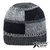【PolarStar】中性 格子保暖帽『黑色』P18601 羊毛帽 毛球帽 素色帽 針織帽 毛帽 毛線帽 帽子
