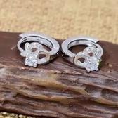 耳環 925純銀鑲鑽-鏤空花朵生日情人節禮物女飾品73ds73[時尚巴黎]
