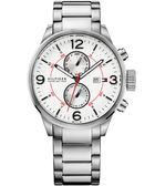 Tommy Hilfiger 痞客幫紐約計時腕錶-銀 M1790891
