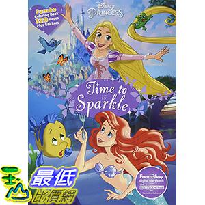 [106美國直購] 2017美國暢銷兒童書 Disney Princess Jumbo Coloring (Jumbo Coloring Book) Paperback