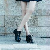 復古英倫風女鞋 布洛克牛津小皮鞋 漆皮單鞋