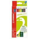 STABILO green color環保認證大三角色鉛筆*6019/2-12