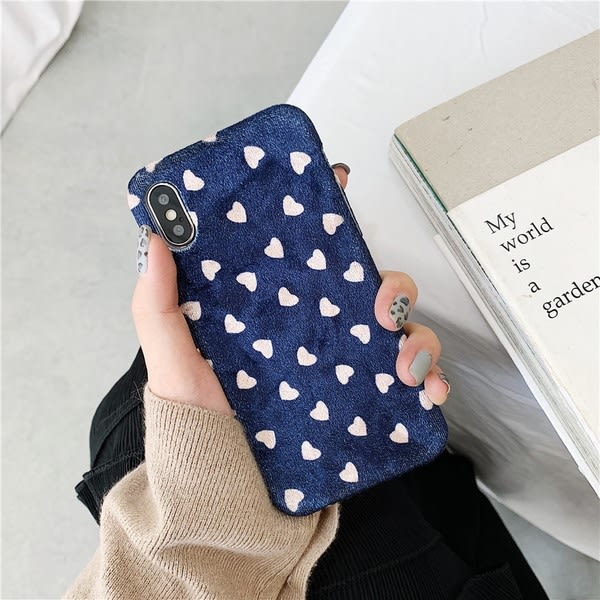 【SZ24】絲絨愛心 絨布軟殼 iphone XS MAX手機殼 iphone XR XS手機殼 iphone 8plus手機殼 i6s plus手機殼 iphone X