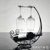 酒架  創意新款紅酒架紅酒杯架擺設雙用酒架子家用葡萄酒架擺件酒柜裝飾igo  歐韓流行館