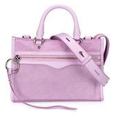 Rebecca Minkoff MICRO BEDFORD麂皮手提斜背兩用包(粉紫色)220090