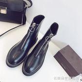 馬丁靴女英倫風韓版百搭粗跟chic學生短靴女靴子潮  『名購居家』