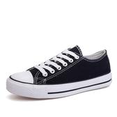 夏季球鞋新款小白帆布女鞋