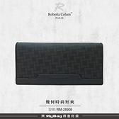 ROBERTA 諾貝達 皮夾 幾何時尚系列 12卡 窗格 零錢袋 長夾 男夾 RM-28908 得意時袋
