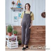 【Tiara Tiara】純棉經典連身吊帶褲(灰/淺卡) 新品穿搭