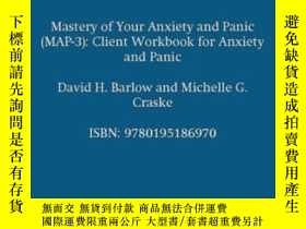 二手書博民逛書店Mastery罕見Of Your Anxiety And Panic (map-3): Client Workbo