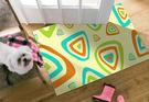 【范登伯格】奧瓦柔亮絲質感地毯-奇巧(橘)-70x120cm