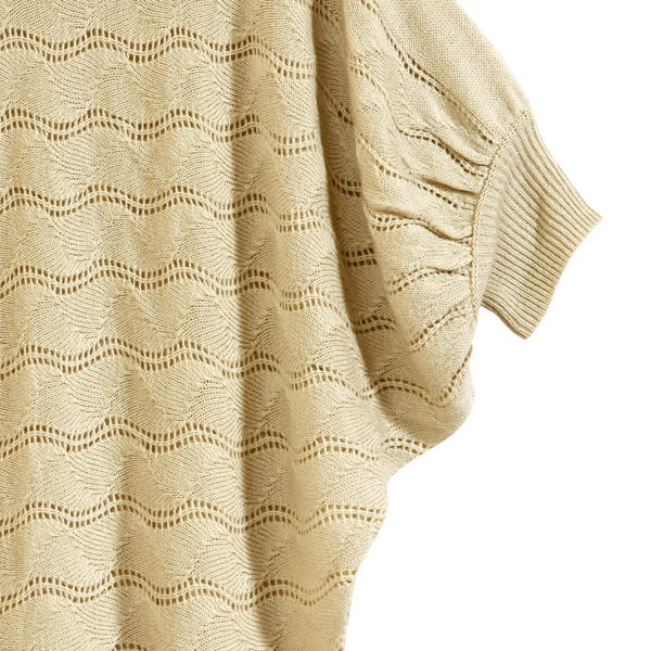【MASTINA】飛鼠袖針織上衣-米 0610