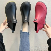 日系時尚款外穿雨鞋女短筒加絨保暖雨靴買菜廚房防滑水鞋洗車鞋 遇見初晴