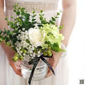 ins北歐小清新絹花假花仿真花客廳花瓶裝飾品擺件餐桌花藝套裝設 玫瑰女孩