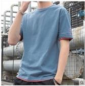 短袖T恤純棉男士短袖t恤夏季簡約百搭體恤夏裝男生潮流ins寬鬆上衣服贝芙莉 貝芙莉