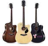 吉他 單板民謠41寸木初學者新手入門吉它學生用男女T 4色